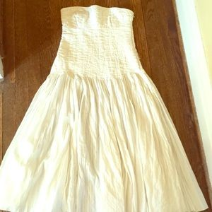 Cream or off white strapless dress